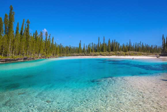 Natural pool Isle of Pines, Oro bay, New Caledonia