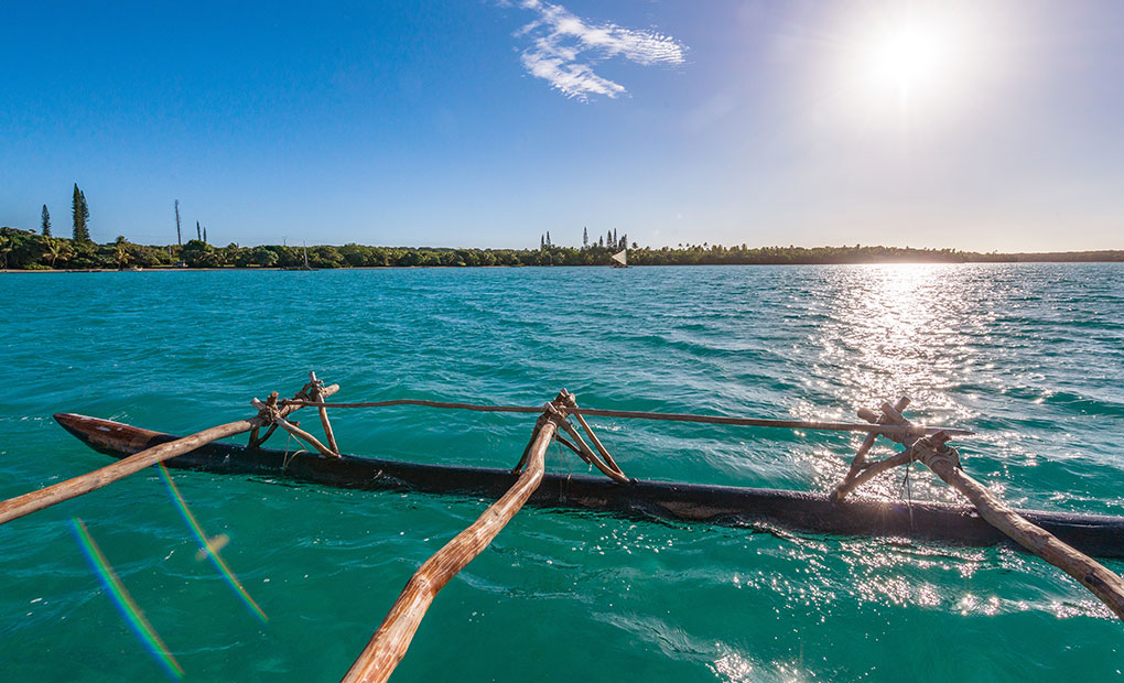 Outrigger, Upi bay, Isle of Pines, New Caledonia